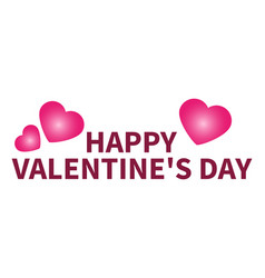 congratulations on valentine s day heart vector image