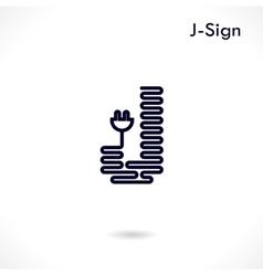 Creative J letter icon abstract logo design vector
