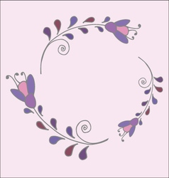 Cute simple floral frame vector