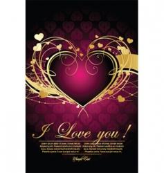 Decorative valentine vector