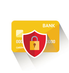 Detailed golden credit card vector
