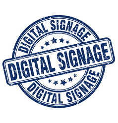 Digital signage blue grunge stamp vector