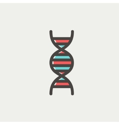 DNA thin line icon vector image
