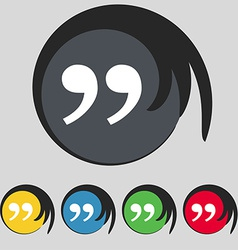 Double quotes at the end of words icon sign Symbol vector image