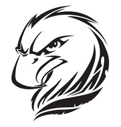 Eagle head tattoo vintage engraving vector