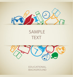 Education design template vector