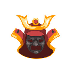 fearsome ancient samurai warrior war mask vector image