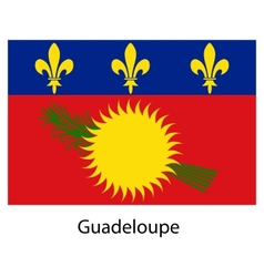 Flag of the country guadeloupe vector image