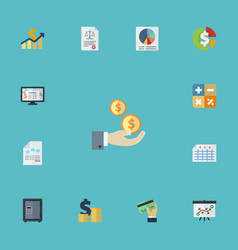 Flat icons paper tactics stock and other vector