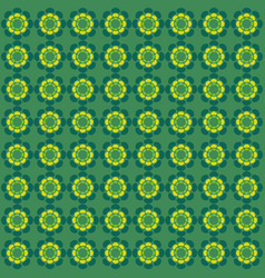 flower pattern ornament green vector image