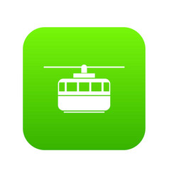 funicular icon digital green vector image