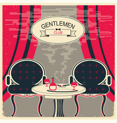 gentlemen club vector image