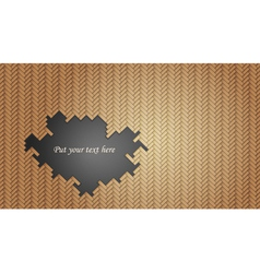 Geometric wicker pattern with hole vector