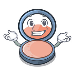 Grinning blosh on in the shape character vector