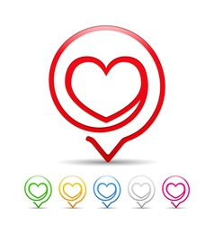 Heart Icon vector image