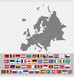 high quality map europe vector image