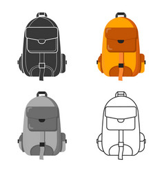 Hiking bag icon for web and vector