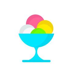icecream on plate vector image