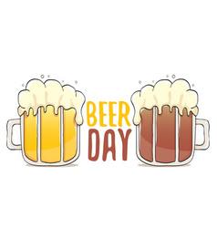 International beer day label vector