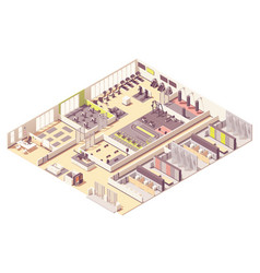 isometric fitness club or gym interior vector image
