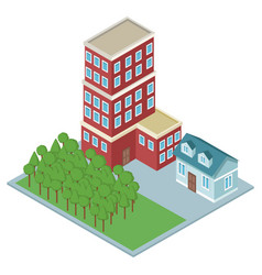 Isometric residences buildings vector