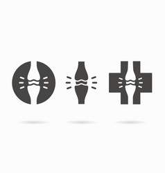 Joint icon logo design template vector
