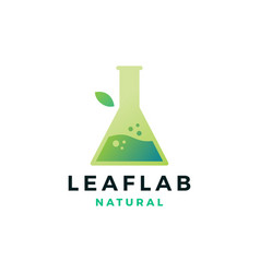 leaf lab nature logo icon vector image