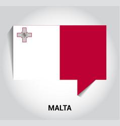malta flag design vector image