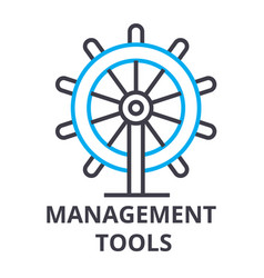 management tools thin line icon sign symbol vector image