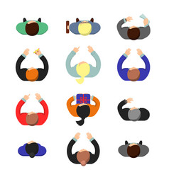managers top view standing or sitting business vector image