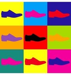 Men Shoes icon vector