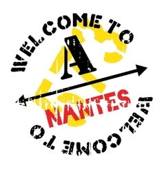 Nantes stamp rubber grunge vector