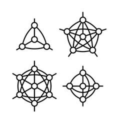 Neural network or other node with links type vector