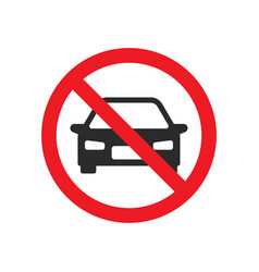 no car allowed street sign vector image