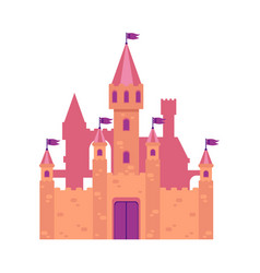 old building castle and architecture with stone vector image