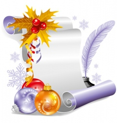 old scroll for Christmas invitation vector image