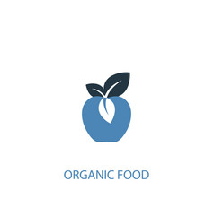 organic food concept 2 colored icon simple blue vector image