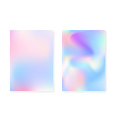 pearlescent background with holographic gradient vector image