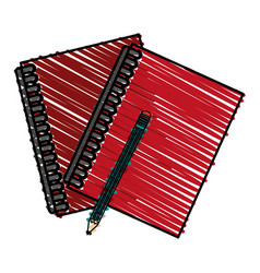Pencil notebooks front vector