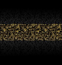 Persian golden linear background vector