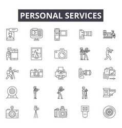 personal services line icons signs set vector image