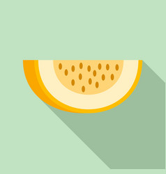 piece of melon icon flat style vector image