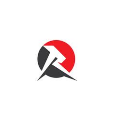 R letter lightning logo vector