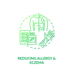 Reducing allergy and eczema concept icon vector