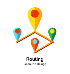 Routing isometric vector