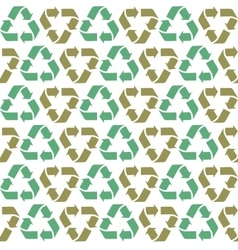 Seamless flat recycle background vector image