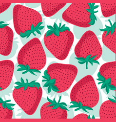Seamless pattern with strawberries graphic vector