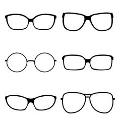 Set of sunglasses vector image