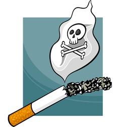 Smoking harms cartoon vector