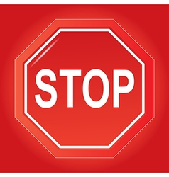 Stop vector image